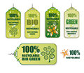 Recycling Green Tag Icons Royalty Free Stock Image