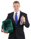 Recycling guy Stock Image