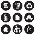 Recycling icon set vector illustration of the Royalty Free Stock Images