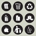 Recycling icon set vector illustration of the Stock Photo