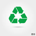 Recycling Icon. Sustainable and responsible acting Symbol.