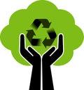 Recycling logo Royalty Free Stock Photo