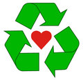Recycling love Royalty Free Stock Photo