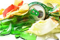 Recycling. Mixed trash closeup Royalty Free Stock Photo