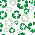 Recycling Seamless Background Royalty Free Stock Photos