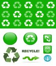 Recycling set Royalty Free Stock Photography