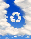 Recycling symbol Royalty Free Stock Photo