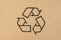 Recycling symbol for cardboard packaging materials Royalty Free Stock Images
