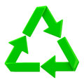 Recycling symbol d image white background Royalty Free Stock Image