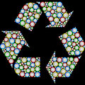 Recycling Symbol Drawn From Th...