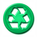 Recycling symbol in green tones Royalty Free Stock Images