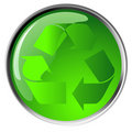 Recycling symbol icon Royalty Free Stock Photos