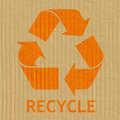 Recycling Symbol Message Stock Photography