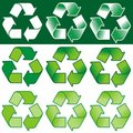 Recycling Symbol (vector) Royalty Free Stock Image