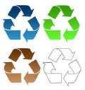 Recycling symbols Royalty Free Stock Photography