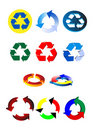 Recycling symbols Royalty Free Stock Images