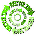 Recycling text arrows Royalty Free Stock Photo
