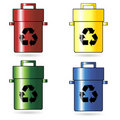 Recycling trash cans Royalty Free Stock Images