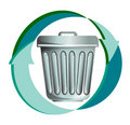 Recycling trash and rubbish Royalty Free Stock Images