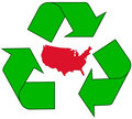Recycling USA Royalty Free Stock Photo
