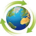 For recycling world three arrows symbolizing the revolving around Stock Photos