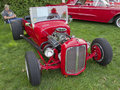 Red 1927 Ford Roadster Stock Photography