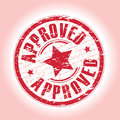 A red abstract approved stamp Royalty Free Stock Photography