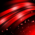 Red abstract background curve lines with dots on a dark surface Stock Image