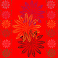 Red abstract flower background Royalty Free Stock Photo