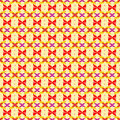 Red abstract flower petals on yellow background seamless pattern Royalty Free Stock Photo