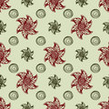 Red abstract flowers seamless pattern background Royalty Free Stock Image