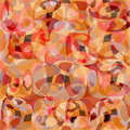 Red abstract objects beautiful geometric background vector illustration Royalty Free Stock Photo