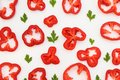 Red abstract of pepper rings Royalty Free Stock Photo