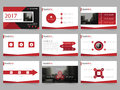 Red Abstract presentation templates, Infographic elements template flat design set for annual report brochure flyer leaflet market Royalty Free Stock Photo