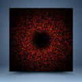 Red and black vector mosaic abstract background Royalty Free Stock Photo