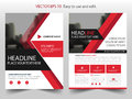 Red abstract triangle annual report Brochure design template vector. Business Flyers infographic magazine poster Royalty Free Stock Photo