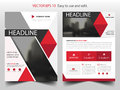 Red abstract triangle Brochure design template vector. Business Flyers infographic magazine poster.Abstract layout template ,