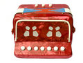 Red accordion Stock Images