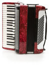 Red Accordion Royalty Free Stock Images