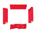Red adhesive tape isolated Royalty Free Stock Image