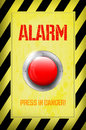 Red alarm button illustration of press in danger Royalty Free Stock Images