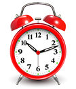 Red alarm clock vector illustration Royalty Free Stock Photos