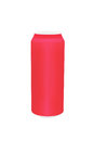 Red aluminum cans with blank copy space