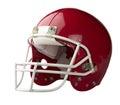 Red American football helmet Royalty Free Stock Photo