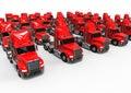 Red American Truck fleet