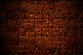 Red ancient stone wall texture, background Royalty Free Stock Photo