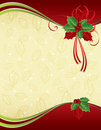 Red ang gold Christmas background Royalty Free Stock Photography