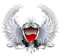 Red angel shield Royalty Free Stock Photo