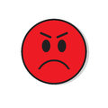 Red Angry Sad Face Negative People Emotion Icon