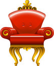 Red antique armchair Royalty Free Stock Photography